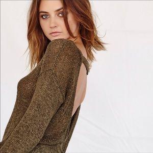 Callahan Open Weave V Back Sweater